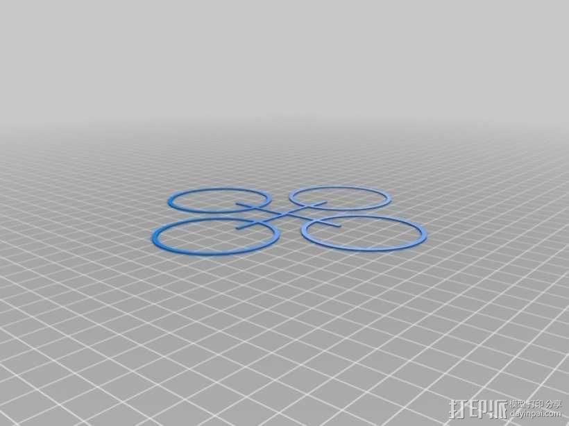 Bitcraze四轴飞行器保护架 3D模型  图6