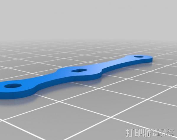 迷你钓鱼绕线器 3D模型  图3