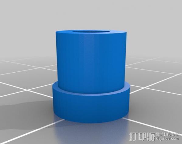 迷你钓鱼绕线器 3D模型  图2