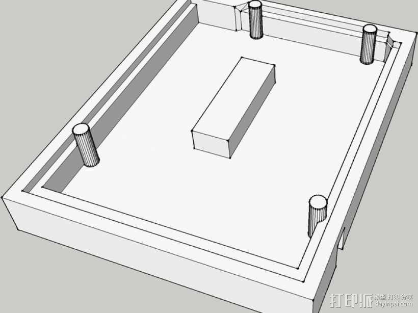 Arduino Uno R3电路板外壳 3D模型  图5