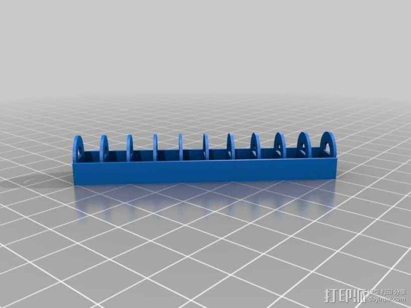 定制化纽扣电池架 3D模型  图2