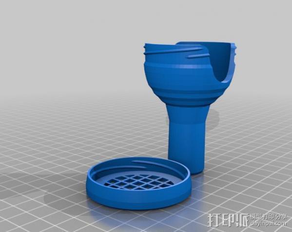 长号吹口保护套 3D模型  图2