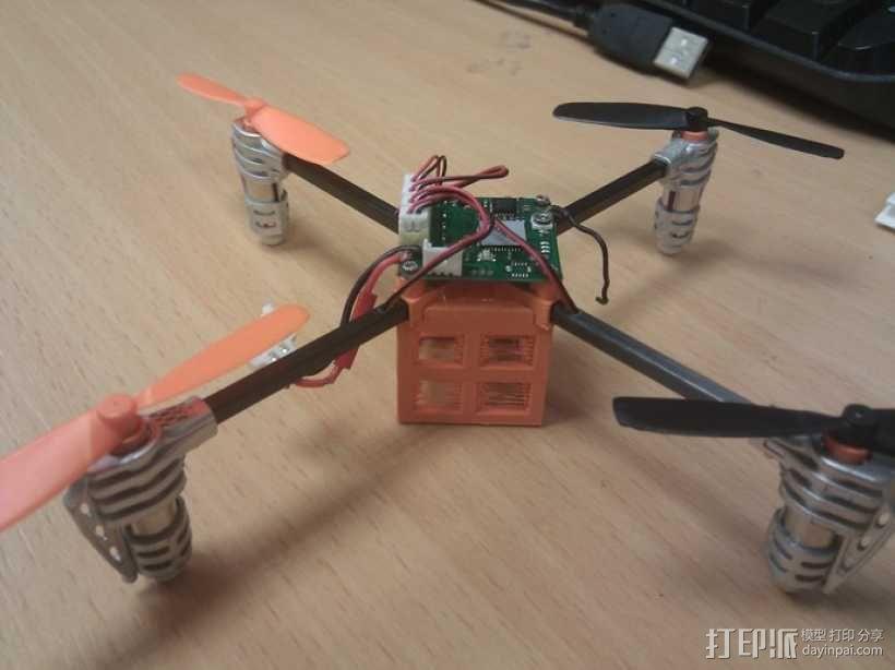 瓢虫 多轴飞行器框架 3D模型  图2