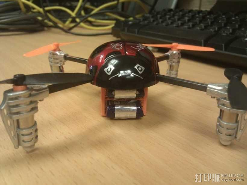 瓢虫 多轴飞行器框架 3D模型  图1
