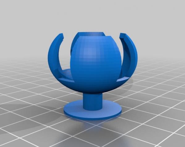 可焊接球和底座 3D模型  图3