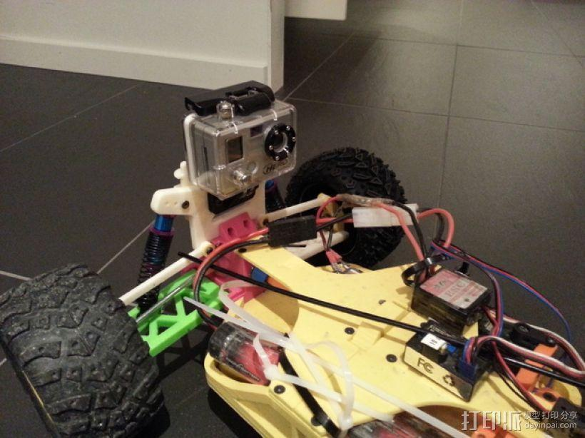 遥控赛车 GoPro相机支架 3D模型  图1