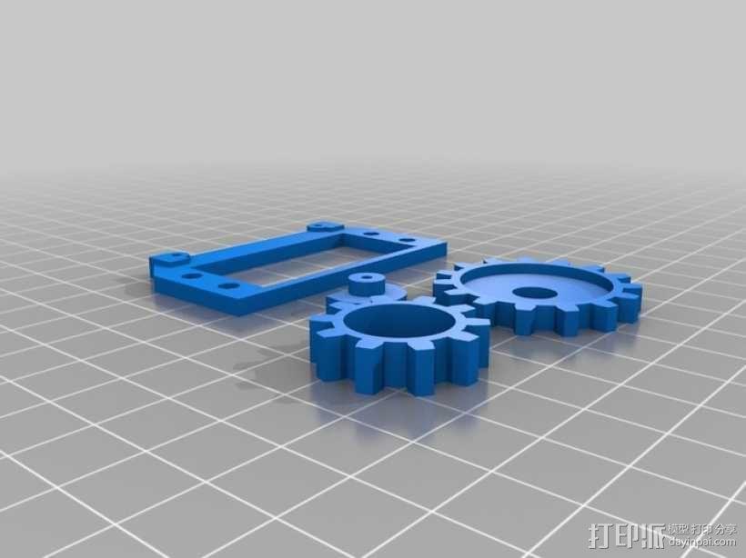 摄像头自动对焦齿轮 3D模型  图1