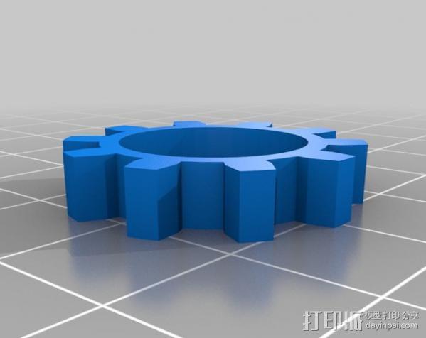 摄像头自动对焦齿轮 3D模型  图6
