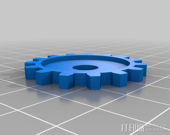 摄像头自动对焦齿轮 3D模型  图5