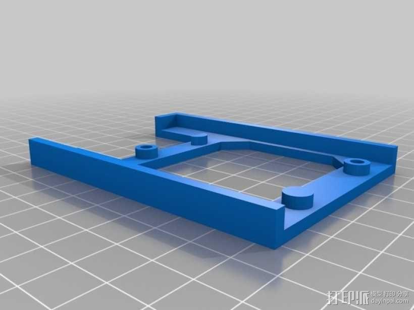 树莓派电路板 托盘 3D模型  图1