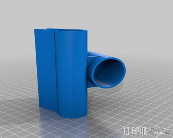 鱼竿支架 3D模型  图2