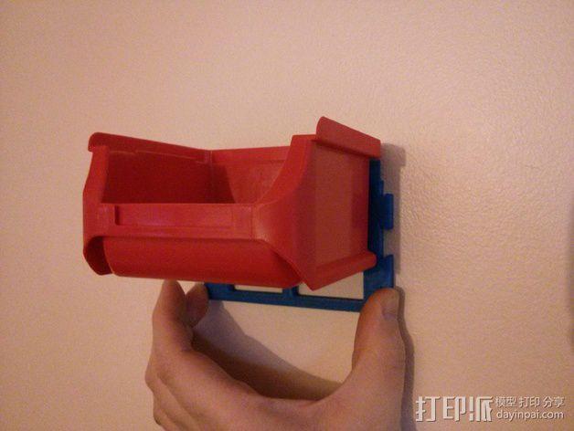 壁挂式整理箱挂钩 3D模型  图3