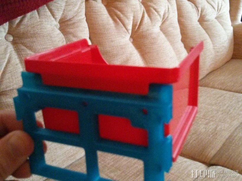 壁挂式整理箱挂钩 3D模型  图2