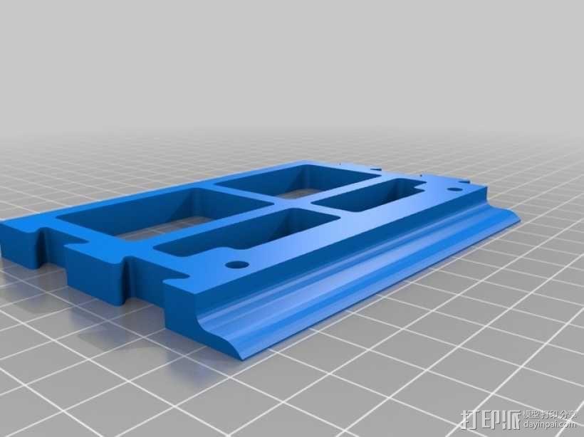 壁挂式整理箱挂钩 3D模型  图5