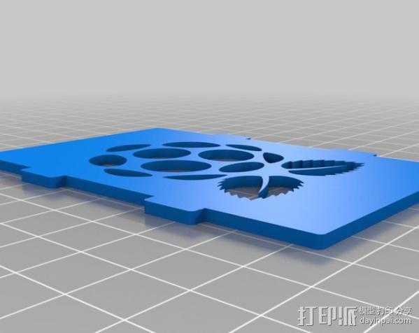 树莓派电路板外壳 3D模型  图2