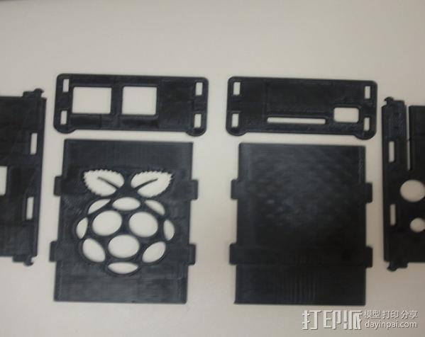 树莓派电路板外壳 3D模型  图7