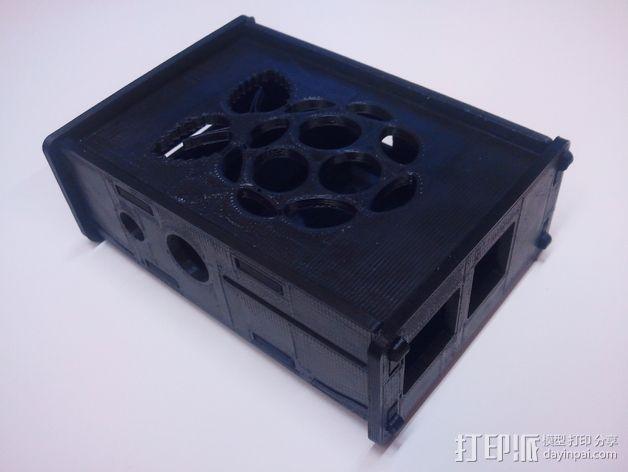 树莓派电路板外壳 3D模型  图5