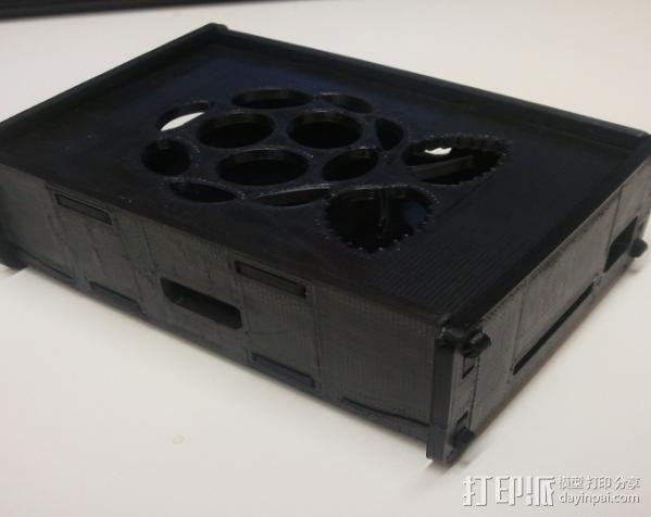 树莓派电路板外壳 3D模型  图6