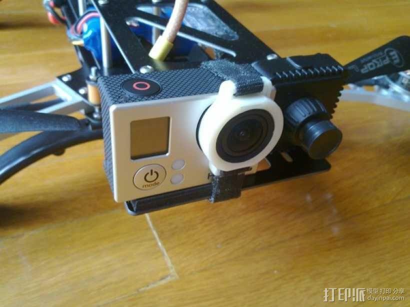 GoPro Hero 3相机镜头保护架 3D模型  图1