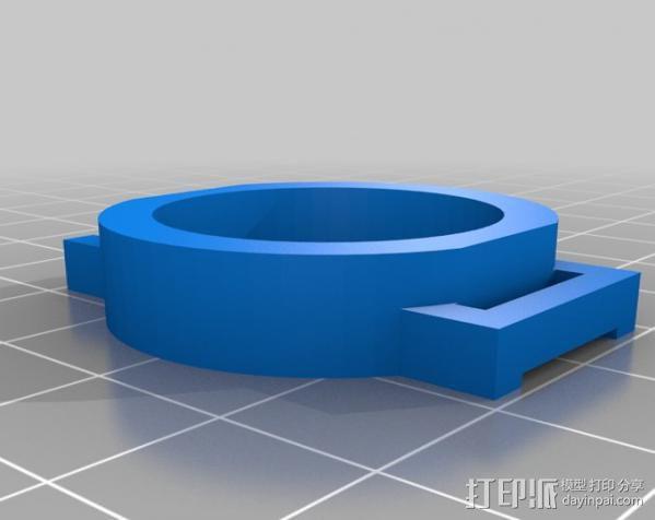 GoPro Hero 3相机镜头保护架 3D模型  图2