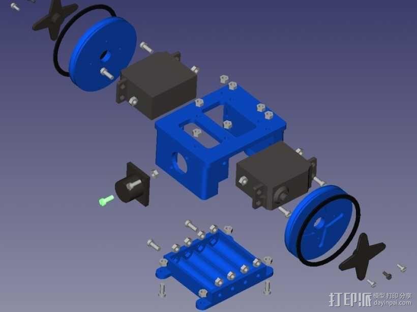 Miniskybot 2机器人 3D模型  图10