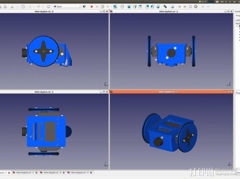 Miniskybot 2机器人 3D模型  图13
