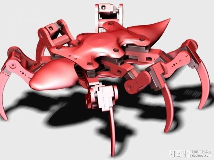 六足机器人 3D模型  图2