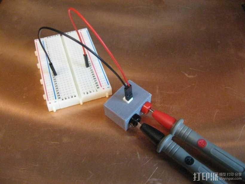 电路试验板配适器 3D模型  图1