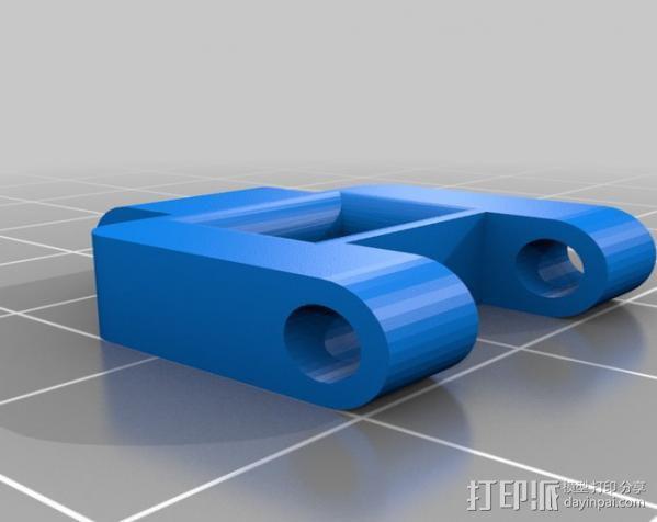 坦克机器人履带引导装置 3D模型  图2