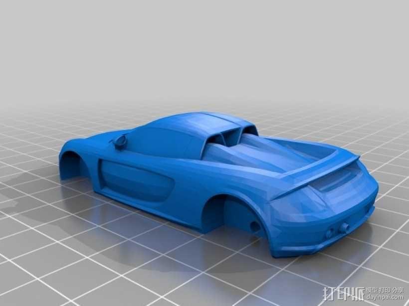 保时捷卡雷拉车身 3D模型  图1