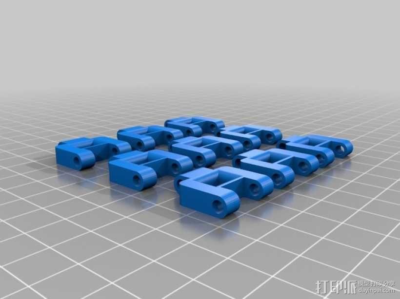 坦克机器人 履带 3D模型  图1