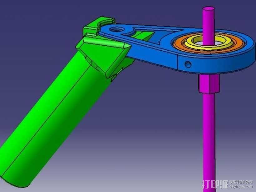 相机稳定器 3D模型  图1