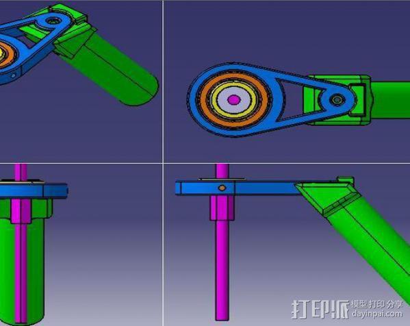 相机稳定器 3D模型  图2