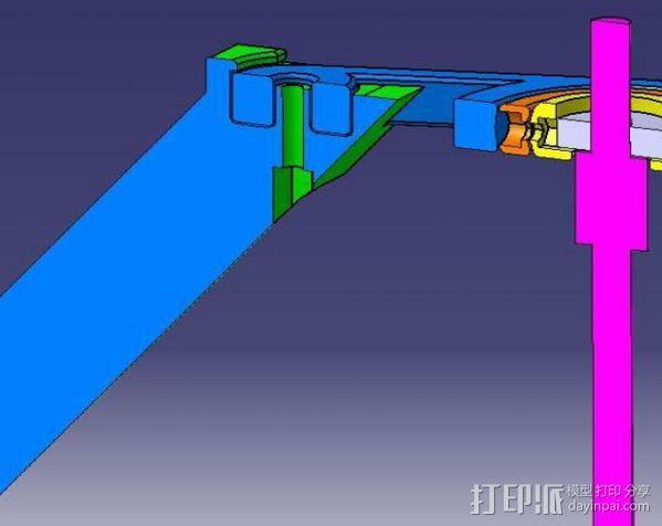 相机稳定器 3D模型  图3