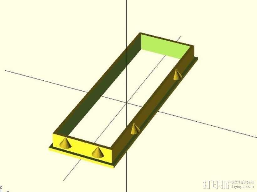 定制化LED显示器外壳 框架 3D模型  图1