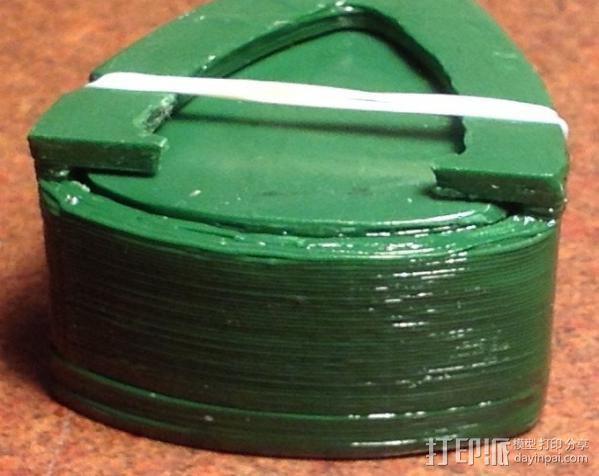 吉他拨片 收纳盒 3D模型  图2
