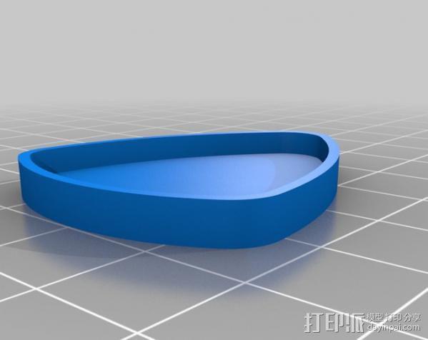 吉他拨片 收纳盒 3D模型  图4