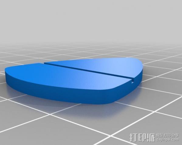 吉他拨片 收纳盒 3D模型  图5