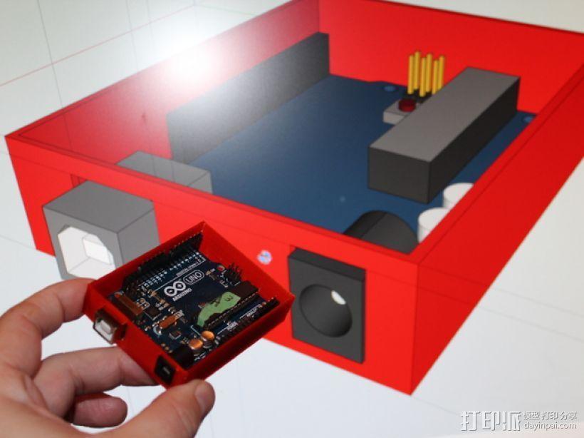 Arduino Uno电路板 托盘 3D模型  图2