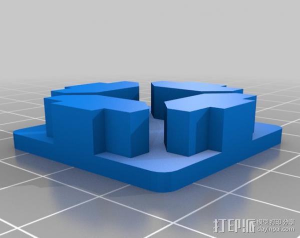 管端盖板 后盖 3D模型  图3