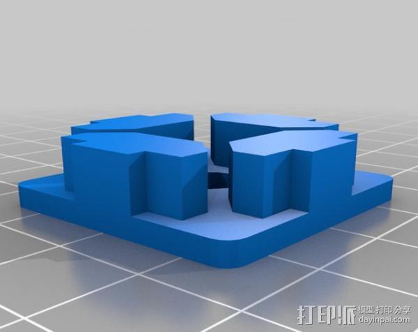 管端盖板 后盖 3D模型  图4