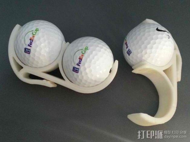 高尔夫球固定夹 3D模型  图2