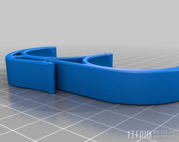 高尔夫球固定夹 3D模型  图4
