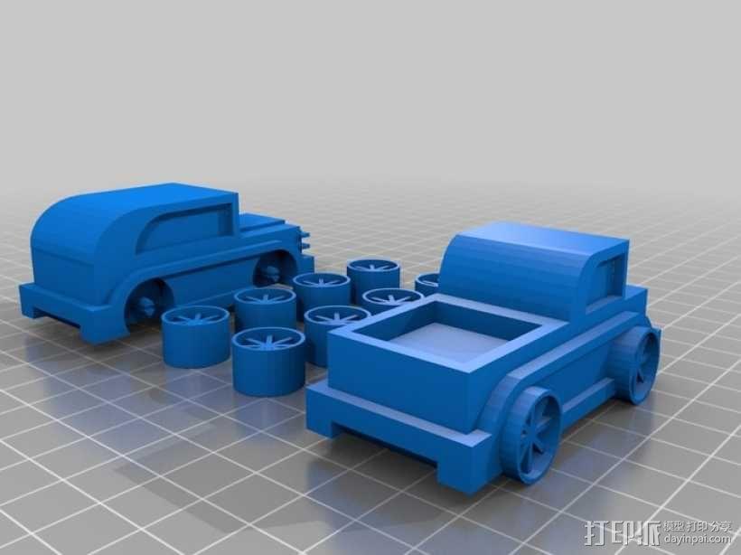 儿童 小汽车 3D模型  图1