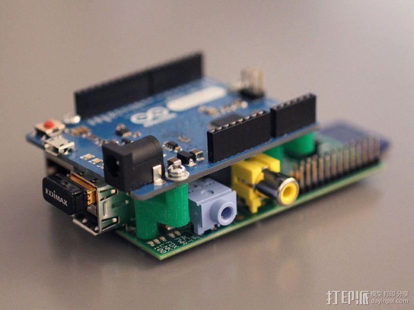 Arduino和树莓派电路板底板 3D模型  图3
