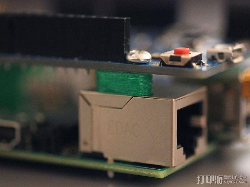Arduino和树莓派电路板底板 3D模型  图5