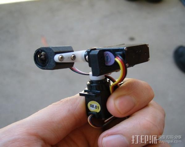 tilt&pan相机支架 3D模型  图1