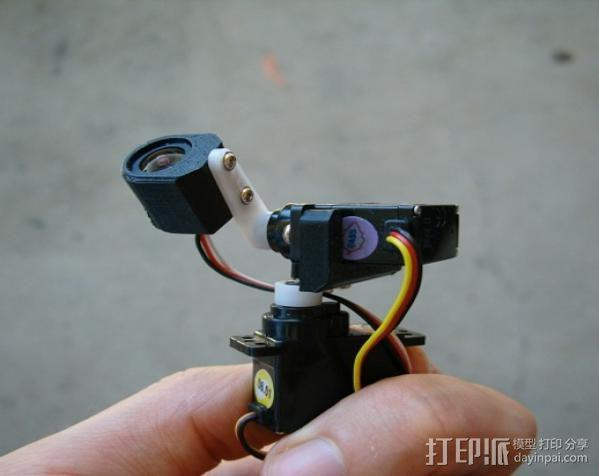 tilt&pan相机支架 3D模型  图3