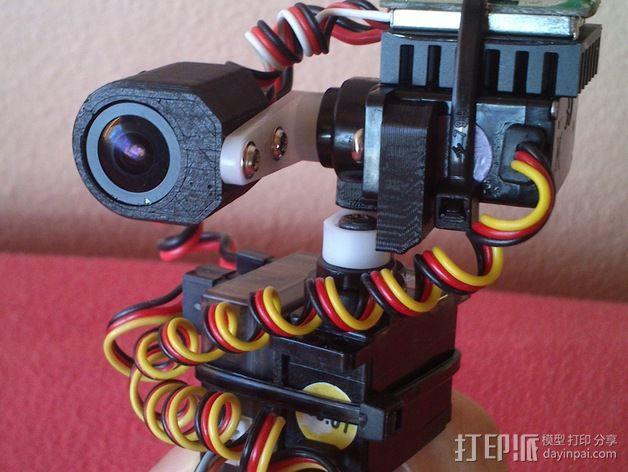 tilt&pan相机支架 3D模型  图2