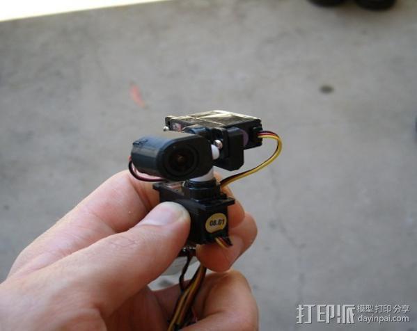 tilt&pan相机支架 3D模型  图4